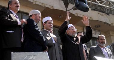 القرضاوى خلال خطبة الجمعة بميدان التحرير