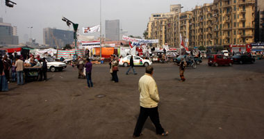 انخفاض أعداد متظاهرى التحرير والباعة