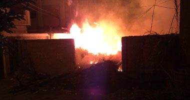 حريق ضخم خلف سنترال طلخا بالدقهلية يتسبب بقطع الكابلات التليفونية s220122802228.jpg