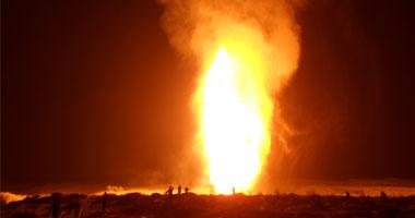 الحماية المدنية تسيطر على حريق خط الزيت الخام جنوب رأس غارب