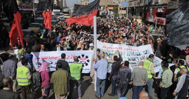 مسيرة دوران شبرا تصل ميدان عبد المنعم رياض للمطالبة بحق الشهيد
