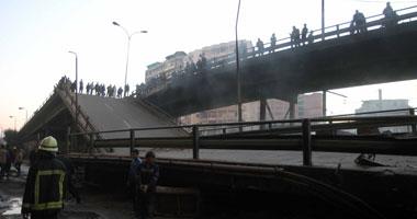 """رئيس حى دار السلام: سقوط أجزاء من مقدمة كوبرى أمام """"النيل بدراوى"""""""