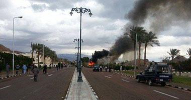 صورة لتفجير الأتوبيس السياحى بطابا