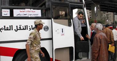 القوات المسلحة تدفع بأتوبيسات بالقاهرة لمواجهة إضراب النقل العام