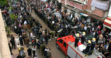تشيع جنازة الضابط مازن شهيد الإسكندرية