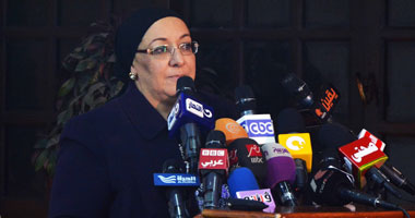 وزيرة الصحة خلال المؤتمر