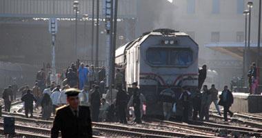 توقف قطارات قبلى مرة أخرى بسبب أنابيب البوتاجاز بالمنيا