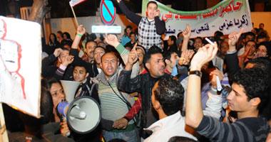 """متظاهر يتجهون لميدان التحرير """"تجريم"""