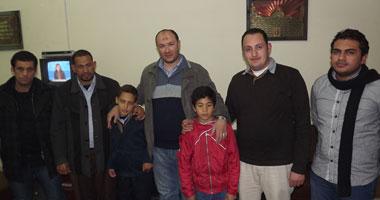 الفل مروان مع أسرته