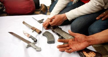 """""""المعمل الجنائى"""" يقرر مصير عاطلين سقطا بـ9 قطع أسلحة نارية فى حلوان"""