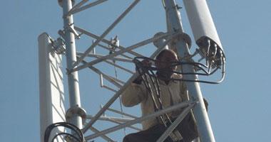 """بالصور.. انتهاء أزمة شبكة المحمول المخالفة بـ""""سنتريس"""" فى المنوفية"""