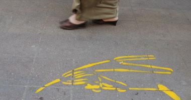 """الرسومات الغريبة تزامنت مع انتشار ملصقات على الحوائط مكتوب عليها """"أونطة"""" - تصوير محسن بيومى"""