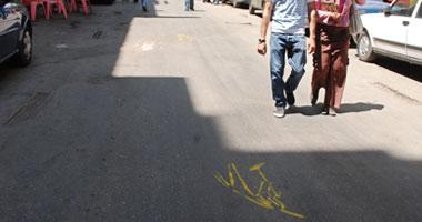 جماعات الإيموز وراء الرسومات الغريبة على شوارع وسط البلد - تصوير: محسن بيومى