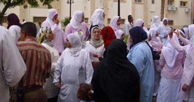 """إنهاء إضراب ممرضات مستشفى """"الولادة """" بمطروح S420102016724"""