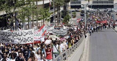 مظاهرات فى لبنان