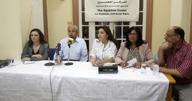 المرحلون من الكويت أثناء مؤتمرهم الصحفى
