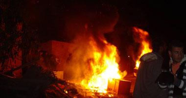 """حريق بصومعة غلال وادى النطرون التى افتتحها """"شرف"""" أمس الأول"""