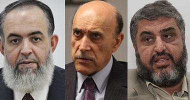 استبعاد عمر سليمان والشاطر وأبو إسماعيل ونور ومرتضى من الانتخابات