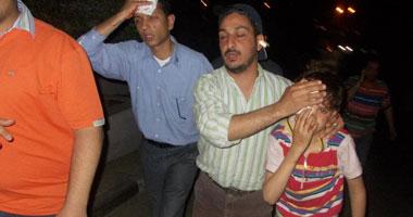جانب من الاعتداءات على أتوبيس جماعة الإخوان المسلمين