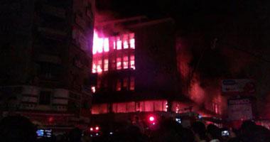 بالصور والفيديو حريق شركة بيع المصنوعات المصرية فى مدينة طنطا  S4201222231151