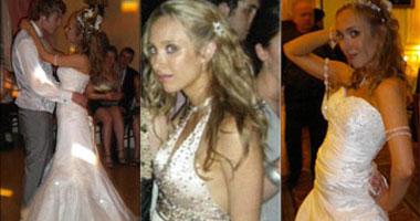 عروس ترتدى 9 فساتين فى ليلة زفافها