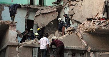مصرع وإصابة 3 فى انهيار منزل بالمحلة.. والبحث عن آخرين تحت الأنقاض