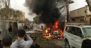 حريق السفاره الفرنسية فى طرابلس