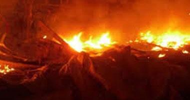نشوب حريق هائل بمزرعة دواجن بديرب نجم بالشرقية