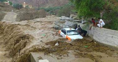 الأمطار والسيول تودى بحياة 20 شخصا فى السعودية  الخميس، 2 مايو 2013