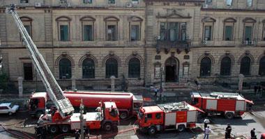 حريق هائل فى محكمة جنوب القاهرة