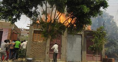 النيران تلتهم نصف مليون جنيه فى حريق بمنزل فى البحيرة
