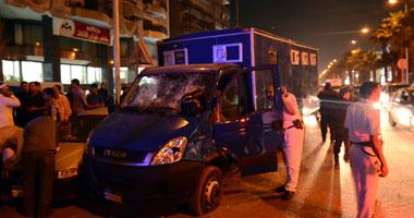 إطلاق النيران على سيارة شرطة بالفيوم ومصرع السائق وإصابة ضابط وأمين