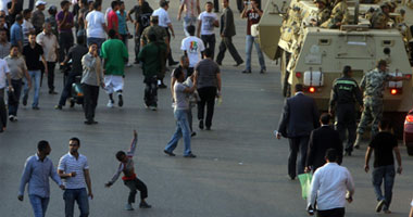 جانب من اعتصام الأقباط أمام ماسبيرو