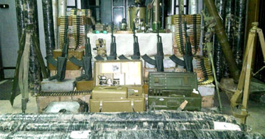 الصواريخ والاسلحة المضبوطة