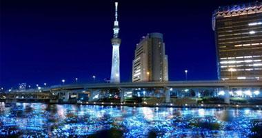 النهر المضىء فى اليابان