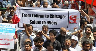 الإيرانيون يلبون دعوات النظام للتظاهر رفضا لاتحاد السعودية والبحرين