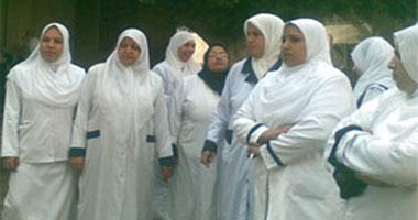 فض إضراب التمريض بجامعة المنيا
