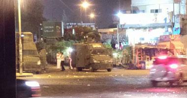 قوات الأمن تمشط ميدان الألف مسكن بثلاث مصفحات لملاحقة الإخوان