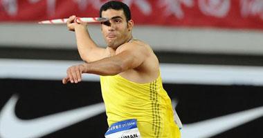 الإصابة تمنع إيهاب عبد الرحمن من المركز الأول بالدورى الماسى لرمى الرمح