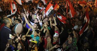 احتفالات التحرير بفوز السيسى