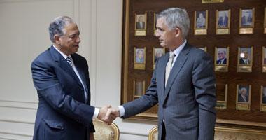 جانب من لقاء نائب سفير الاتحاد الأوروبى ومحافظ أسيوط