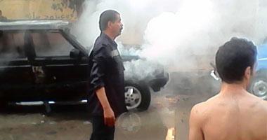 انفجار بعد اصطدام سيارة بتروسيكل محمل بأسطوانات البوتاجاز بالنزهة