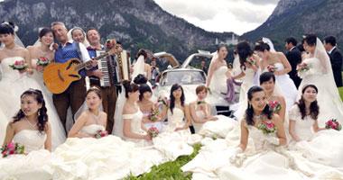 """حفل زفاف جماعى لـ """"  100 سائح صينى """" فى قلعة صلاح الدين الأيوبى"""