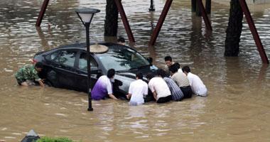 مصرع 4 أشخاص وفقد 23 آخرين إثر فيضانات شرقى الصين