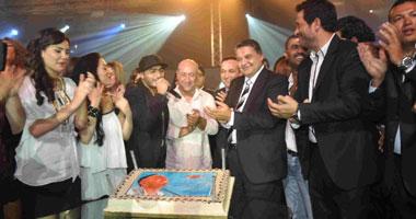 """تامر حسنى يحتفل بإطلاق ألبومه """"اللى جاى أحلى"""""""