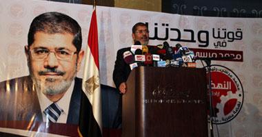 الدكتور محمد مرسى المرشح للانتخابات الرئاسية عن حزب الحرية والعدالة