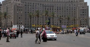عودة رجال الأمن والمرور لميدان التحرير عقب انتهاء صلاة العيد