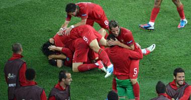 فرحة المنتخب البرتغالى بالصعود