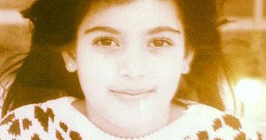 صورة كيم كاردشيان فى سن السبع سنوات