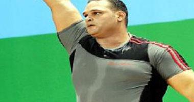 محمد إحسان لاعب المنتخب الوطنى لرفع الأثقال